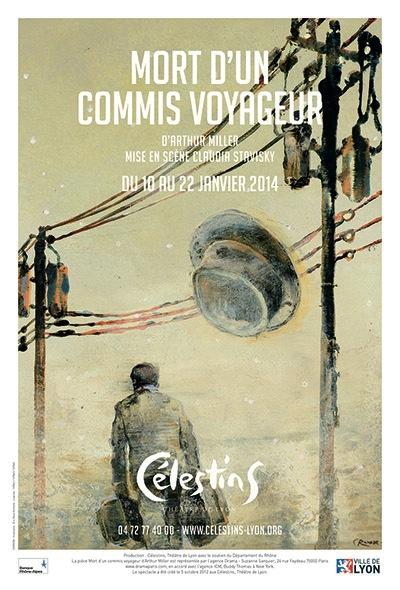 mort-d'un-commis voyageur affiche créée par l'agence corrida pour Claudia Stavisky