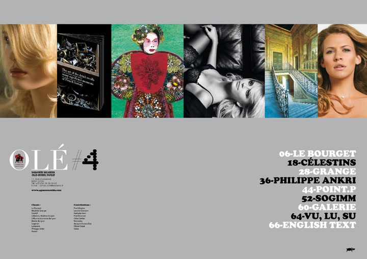 agence corrida ole magazine 04 - sommaire du magazine avec Le Bourget, Célestins, Grange, Philippe Ankri, Point.P, Sogimm, Galerie