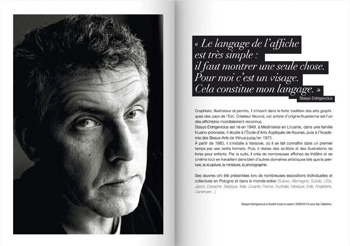agence corrida ole magazine saison 05 p42 CELESTINS Théatre de Lyon - Stasys Eidrigevicious